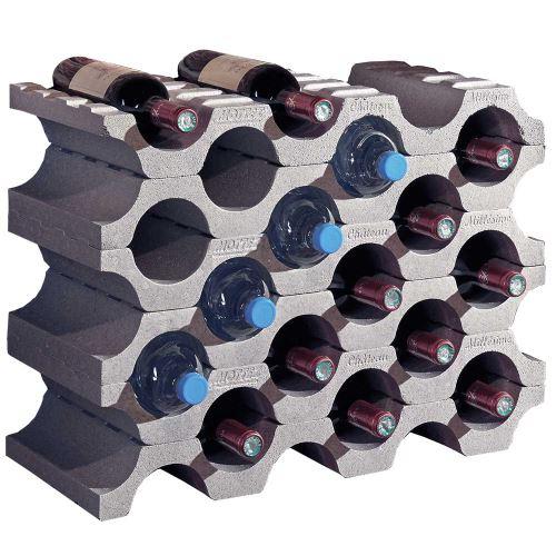 Stojan na víno / Stojan na fľaše - polystyrén - balenie 6 ks