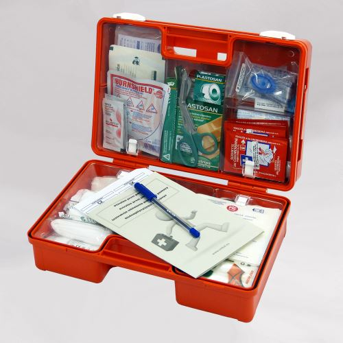 Kufrík prvej pomoci KP 2 s náplňou POPÁLENINY