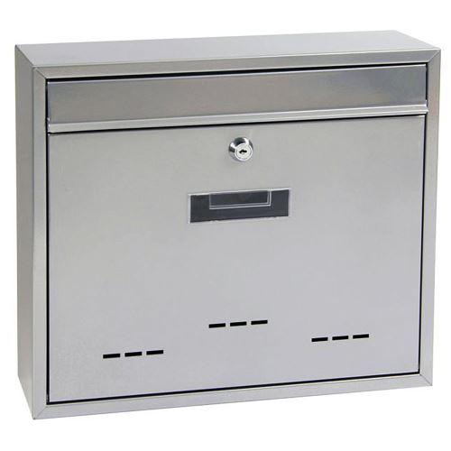 Poštová schránka do zostáv veľká - STRIEBORNÁ