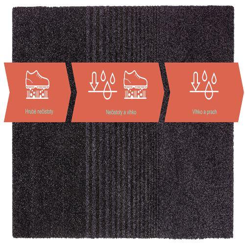 Vstupná čistiaca rohož trojzónová 133 x 150 cm