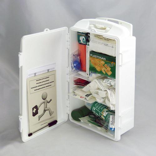 Prenosná lekárnička biela s náplňou STAVBA