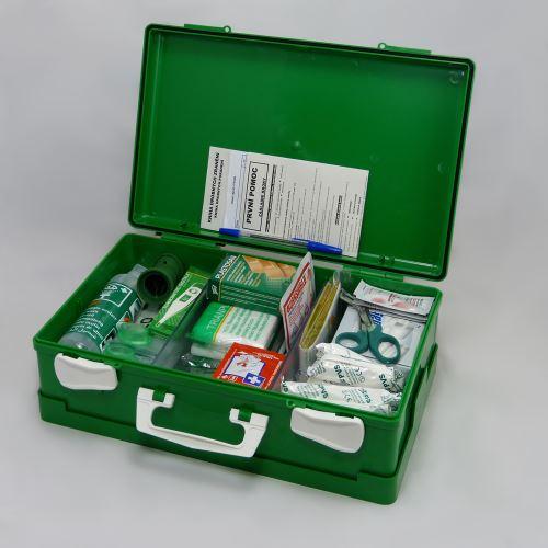 Kufor prvej pomoci ZELENÝ s náplňou VÝROBA