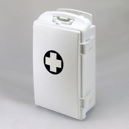Prenosná lekárnička biela s náplňou ŠKOLA
