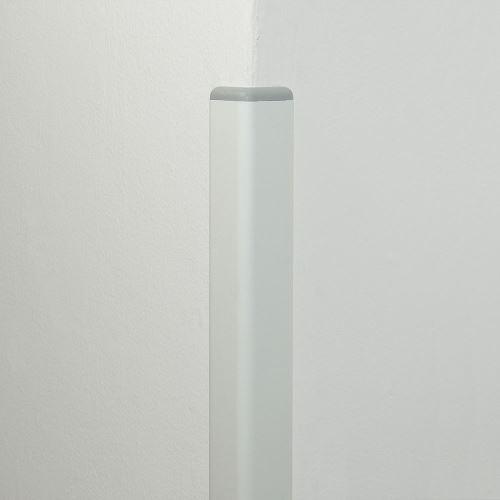 Ochrana rohu DELUX AL 50 - dĺžka 1,5 m - BIELA + koncovka SVETLE ŠEDÁ