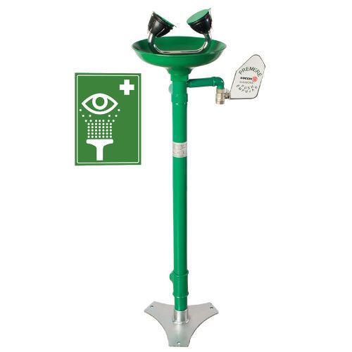 Očná bezpečnostná sprcha - stojanová polypropyléová