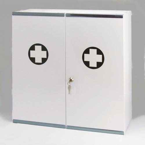 Kovová lekárnička dvojdverová s náplňou ŠPECIÁL