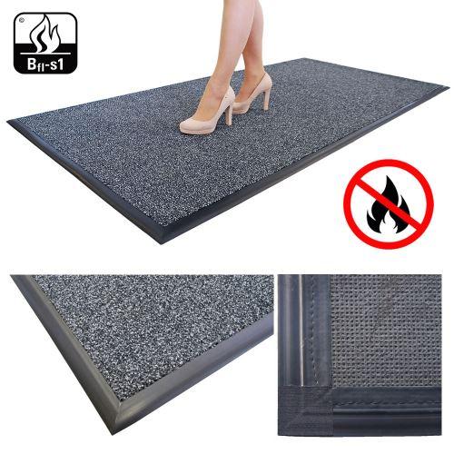 Vstupná textilná čistiaca rohož záťažová FLAME STOP 100 x 300 cm - ANTRACIT
