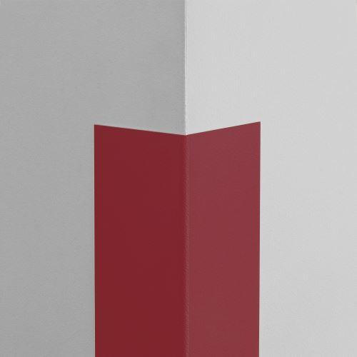 Plastová ochrana rohu LUX - TMAVOČERVENÁ - samolepiaci - dĺžka 1,5 m