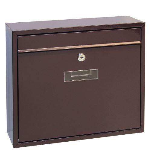 Poštová schránka do zostáv veľká - HNEDÁ