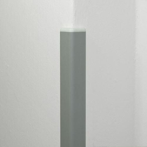 Ochrana rohu DELUX AL 50 - dĺžka 1,5 m - SVETLE ŠEDÁ + koncovka BIELA