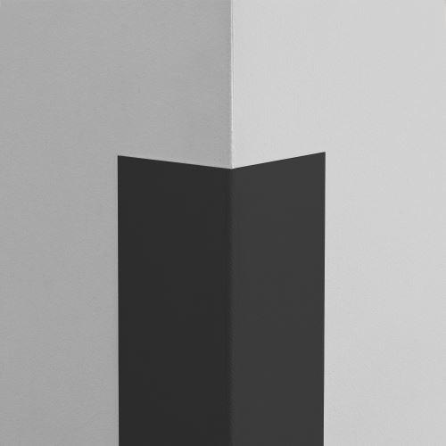 Plastová ochrana rohu LUX - ČIERNA - samolepiaci - dĺžka 1 m