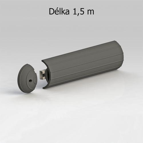 Ochranný pás GARAGE ŠEDÝ - dĺžka 1,5 m