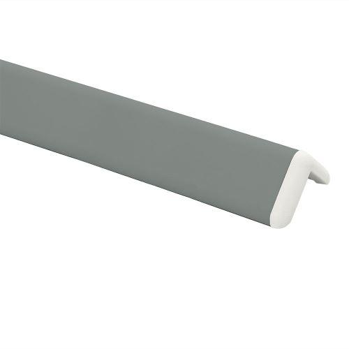 Ochrana rohu DELUX AL 76 - dĺžka 1,5 m - TMAVO ŠEDÁ + koncovka BIELA