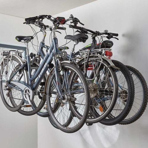 Držiak na stenu na bicykle - pre 4 bicykle
