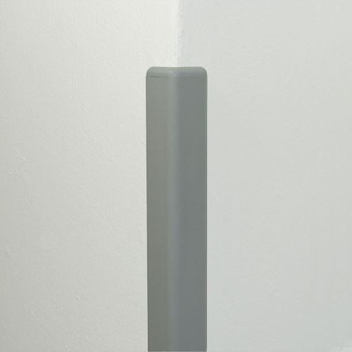 Ochrana rohu DELUX AL 50 - dĺžka 1,5 m - SVETLE ŠEDÁ + koncovka SVETLE ŠEDÁ