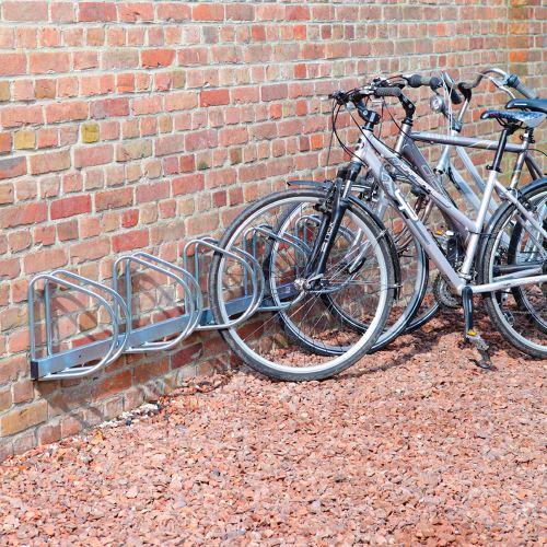 Stenový držiak pre 5 bicyklov - 45°