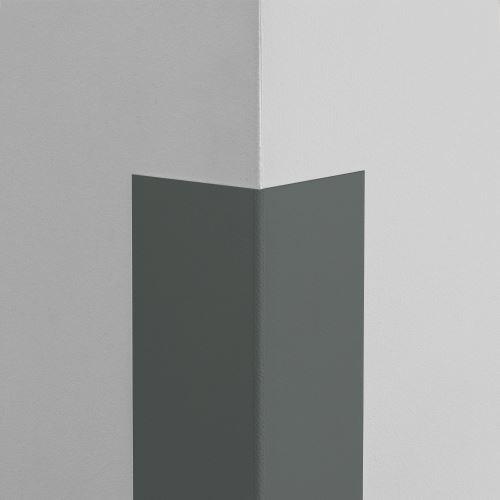 Plastová ochrana rohu LUX - GRAFITOVÁ - samolepiaci - dĺžka 1,5 m