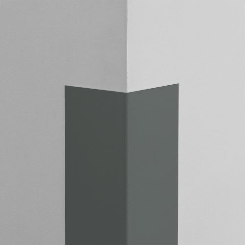 Plastová ochrana rohu LUX - GRAFITOVÁ - samolepiaci - dĺžka 2 m