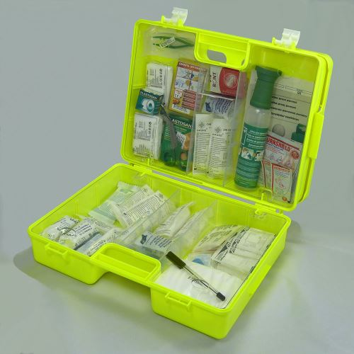 Kufor prvej pomoci FLUO 4 s náplňou VÝROBA