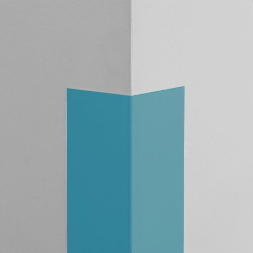 Plastová ochrana rohu LUX - SVETLOMODRÁ - samolepiaci - dĺžka 1 m