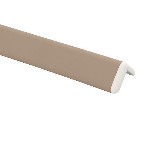 Ochrana rohu DELUX AL 76 - dĺžka 1,5 m - BÉŽOVÁ + koncovka BIELA