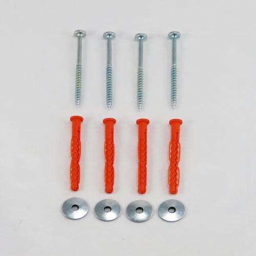 Kotviace skrutky na stojany a zábrany - SADA 4 ks
