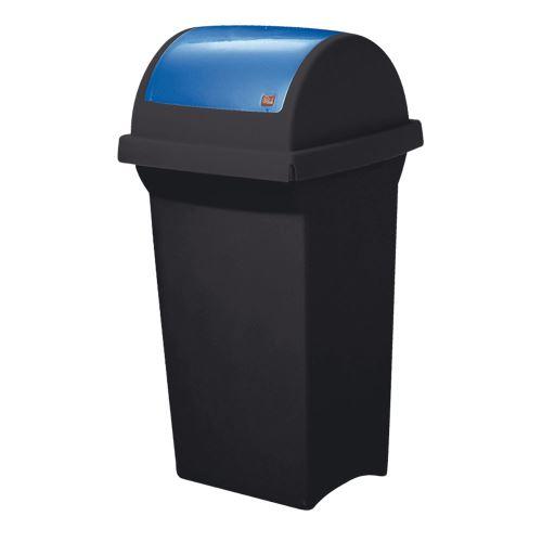 Odpadkový koš 50 l na triedenie odpadov - veko výklopné MODRÉ