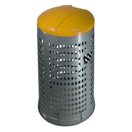 Stojan na odpadkové vrecia 120 l EKOLINE NEW - veko ŽLTÉ