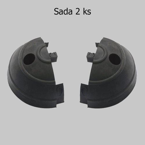 Ukončenie ochranného pásu GARAGE - ČIERNE - balenie 2 ks