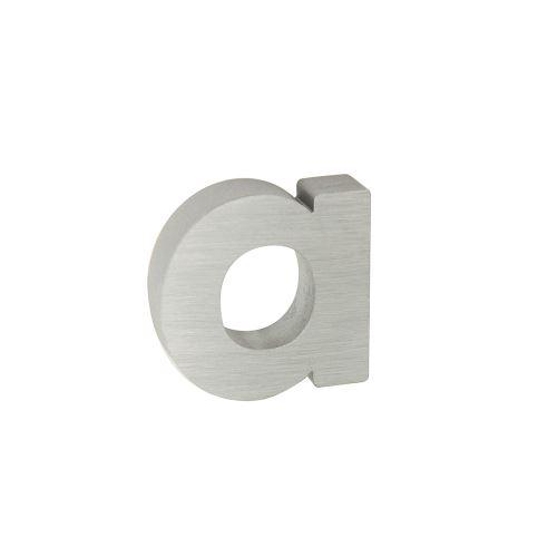 Domovní znak 3D AL stříbrný matný  - písmeno a