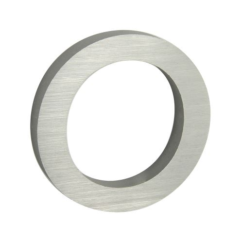 Domovní číslo 3D AL stříbrné matné - č. 0
