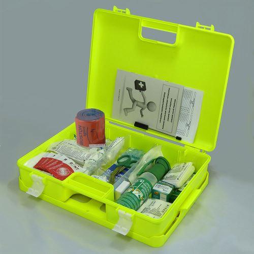 Kufor prvej pomoci FLUO 3 s náplňou STAVBA