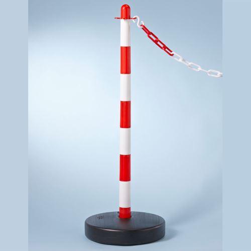 Plastový vymedzovací stĺpik ČERVENO / BIELY