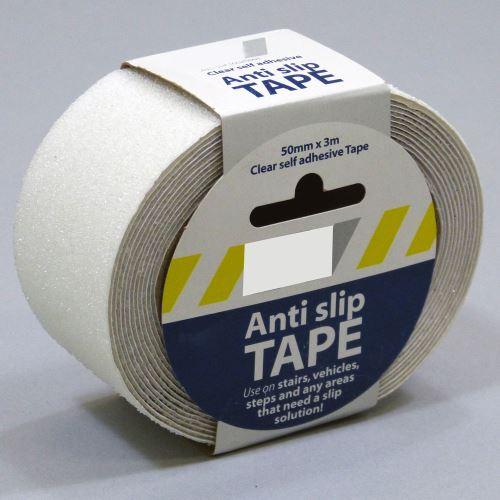 Protišmyková samolepiaca páska - PRIEHĽADNÁ 5 cm x 3 m