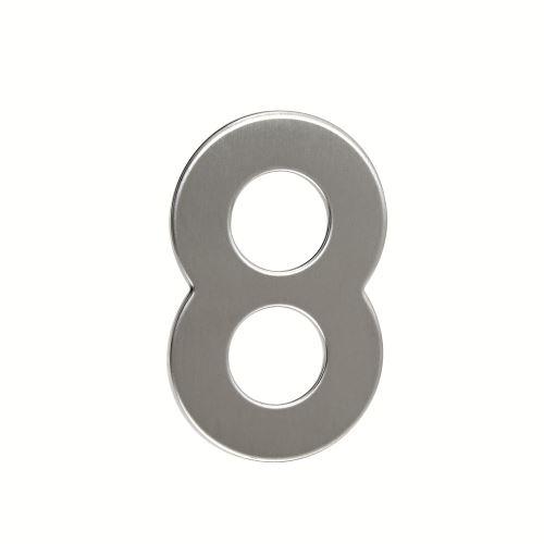 Domovní číslo nerezové - č. 8