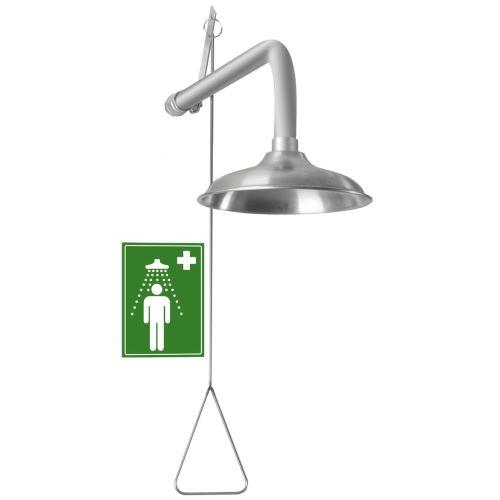 Telová bezpečnostná sprcha - nástenná celonerezová