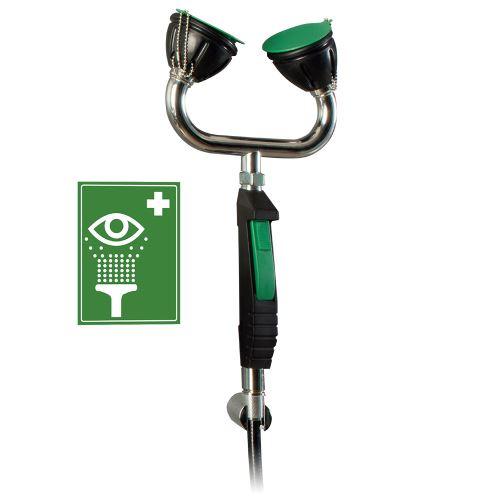 Ručná bezpečnostná očná sprcha 2H s flexibilnou hadicou - stenová