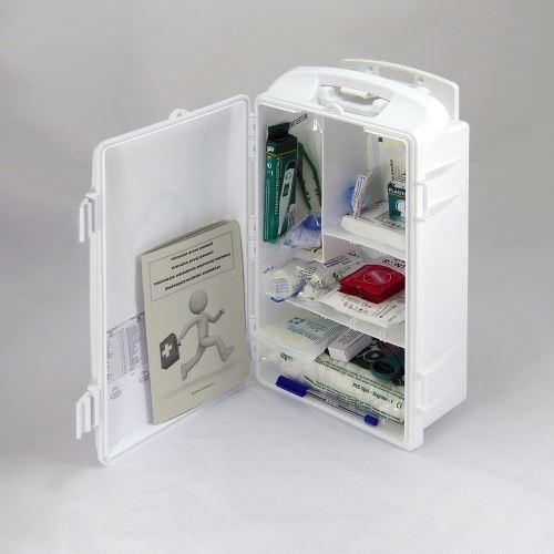 Prenosná lekárnička biela s náplňou ŠTANDARD