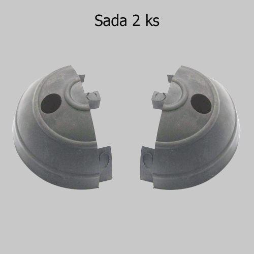 Ukončenie ochranného pásu GARAGE - ŠEDÉ - balenie 2 ks