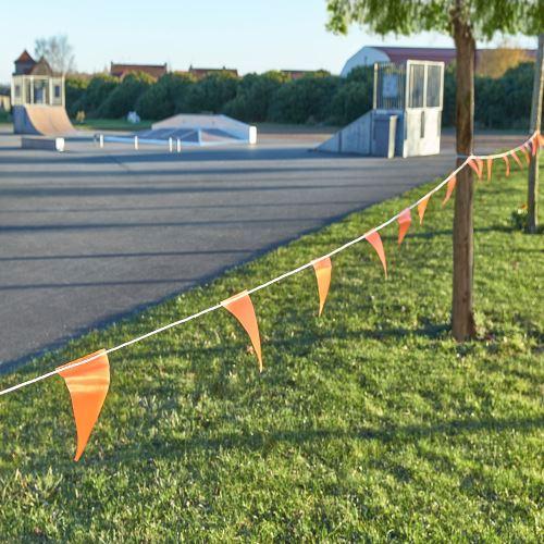 Vlajkový povrazec výstražný - dĺžka 30 m