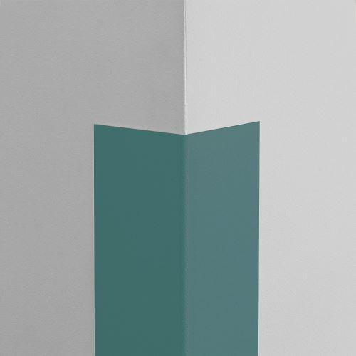 Plastová ochrana rohu LUX - MODROŠEDÁ - samolepiaci - dĺžka 1 m