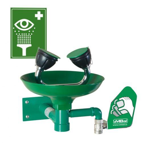 Očná bezpečnostná sprcha - nástenná polypropylénová