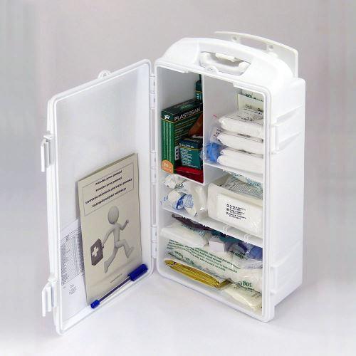 Prenosná lekárnička biela s náplňou ŠPECIÁL