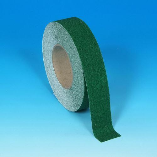 Protišmyková páska ZELENÁ  2,5 cm x 18 m